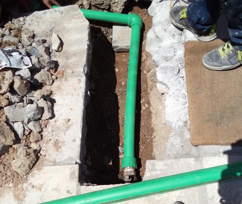 Αντικατάσταση κεντρικής παροχής ύδρευσης οικοδομής
