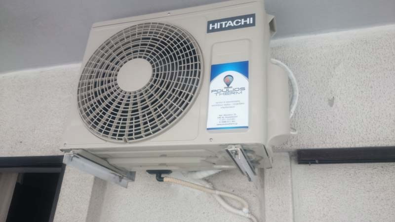 Τοποθέτηση καινούργιου inventer της Hitachi