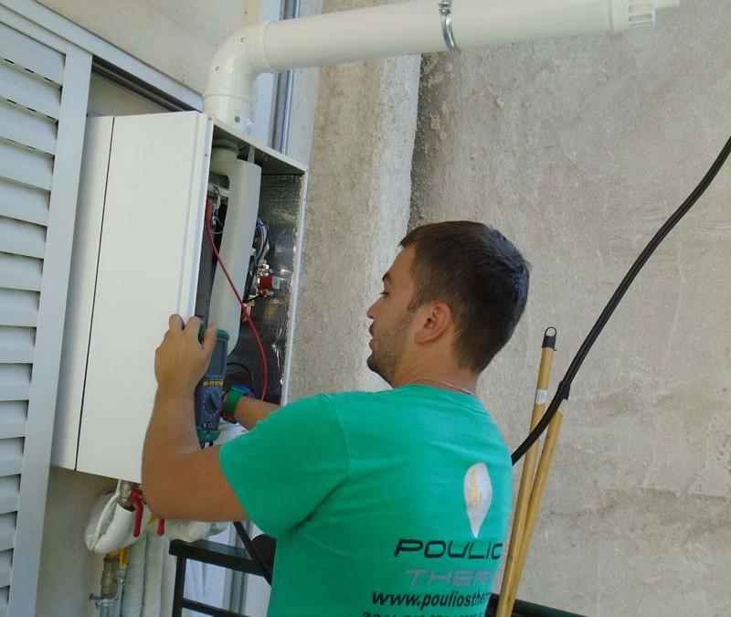 Εγκατάσταση θέρμανσης με Unical Kon λέβητα συμπύκνωσης υψηλών επιδόσεων
