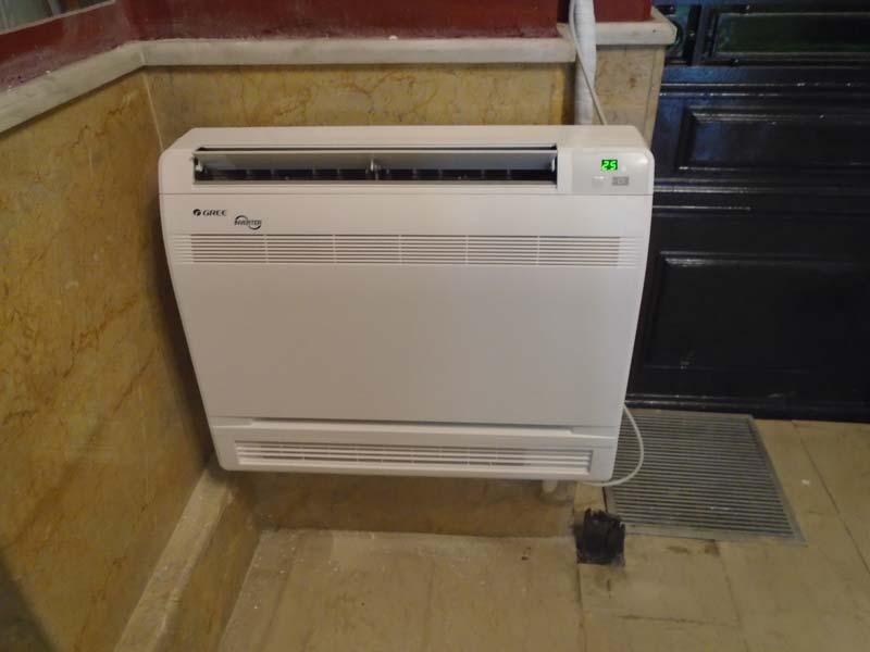 Εγκατάσταση επιδαπέδιας κλιματιστικής μονάδας