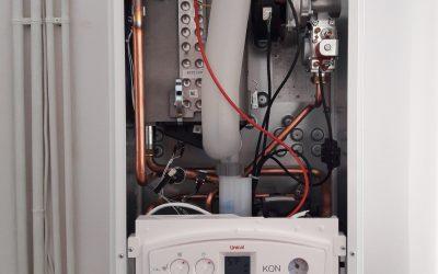 Unical_Τοποθέτηση λέβητα φυσικού αερίου Unical KON σε εσωτερικό χώρο