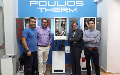 Pouliostherm-Επισκεψη της εταιρείας Caleffi στην  έδρα μας