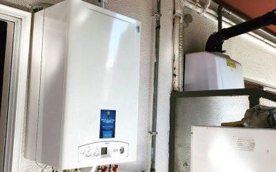 Εγκατασταση λέβητα φυσικου αερίου Unical KONm